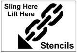 Sling Here - Lift Here Stencils