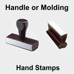 Small Custom Rubber Hand Stamps