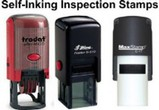 Self-Inking Inspector Stamps