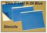 STEN C LABL K-20 Dark Blue Stencils