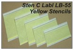 STEN C LABL LB-55 Yellow Stencils