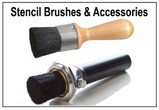 Stencil Brush Applicator Sets