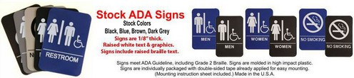 tock ADA Signs