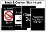 Post Tip Stock & Custom Sign Inserts