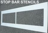 Stop Bar - Line Stencils