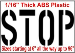Stop Stencils, Many shape and sizes to choose from
