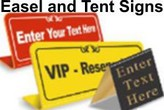Tabletop Tent & Easel Signs