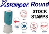 Xstamper Stock Stamps - Round
