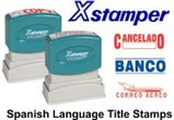 Xstamper Spanish Stock Stamps