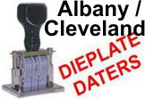 Albany and Cleveland Die Plate Dates