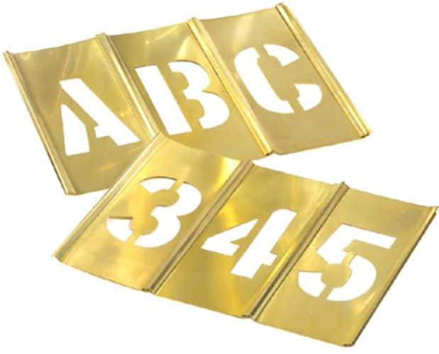 Brass Interlocking Large Size Stencil