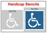 Handicap Stencils, Many shape and sizes to choose from