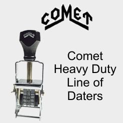 Comet Self-Inking Metal Frame Daters