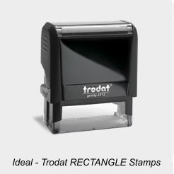 Ideal Rectangle Rubber Stamps