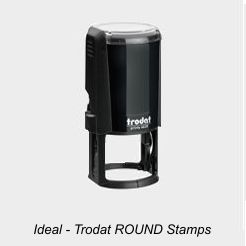 Ideal Round Rubber Stamps