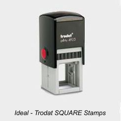 Ideal Square Rubber Stamps