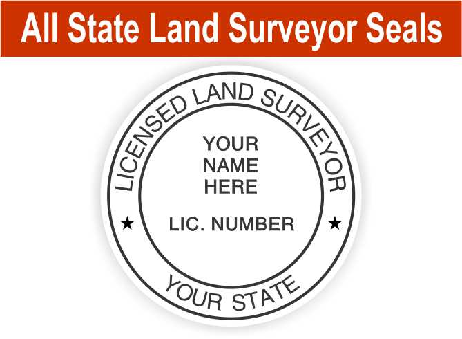 All State Land Surveyor Seals
