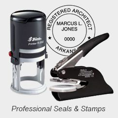 Professional State Stamp and Embossing Seals