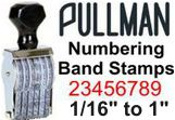 Pullman Numbering Band Stamps, Choose from 1/16