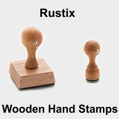 Rustix Wooden Hand Stamps