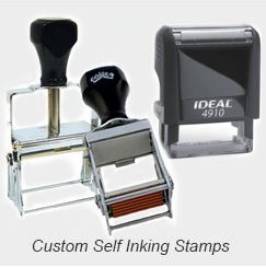 Self-Inking Rubber Stamps - Custom
