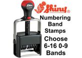 Shiny Self-Inking Daters & Numbering Band Stamps