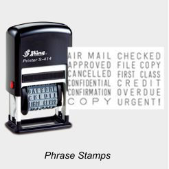 Shiny Word Phrase Stamps