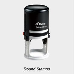 Shiny Round Rubber Stamps