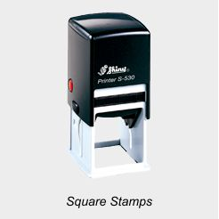 Shiny Square Rubber Stamps