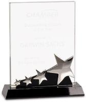 Crystal Rectangle Star Award