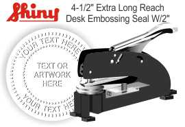 Extra Long Reach Embossing Seal