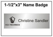 "Engraved Name Badge, 1.5"" x 3"""