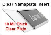 Lexan Clear Plastic Nameplate Insert