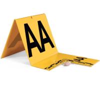 Id Tent (Cut Out Type) Aa-Az Yellow