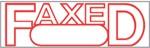 "Xstamper Pre-Inked Stock Stamp ""FAXED"" Xstamper Stock Stamp"