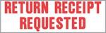 "Xstamper Pre-Inked Stock Stamp ""RETURN RECEIPT REQUESTED"" Xstamper Stock Stamp"