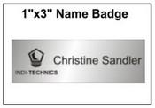 "Engraved Name Badge, 1"" x 3"""