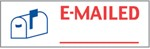 "Xstamper Pre-Inked Stock Stamp ""EMAILED"" Xstamper Stock Stamp"