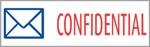 "Xstamper Pre-Inked Stock Stamp ""CONFIDENTIAL"" Xstamper Stock Stamp"