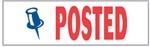 "Xstamper Pre-Inked Stock Stamp ""POSTED"" Xstamper Stock Stamp"