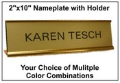 "2""x10"" Nameplate with Standard Holder"