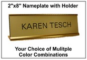 "2""x8"" Nameplate with Standard Holder"
