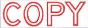 """Xstamper Jumbo Stock Stamp """"COPY"""" Xstamper Stock Stamp"""