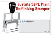 Justrite Plain Self-Inking 32-PL Stamp