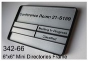 "6""x6"" Mini Directories and Frame"