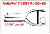 "402 Railway Ticket Punch, 1-3/16"" Reach"