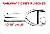 """402 Railway Ticket Punch, 1-3/16"""" Reach"""