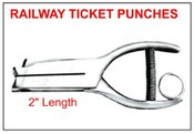 "404 Railway Ticket Punch, 2"" Reach"