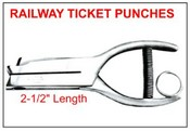 "405 Railway Ticket Punch, 2-1/2"" Reach"