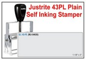Justrite Plain Self-Inking 43-PL Stamp